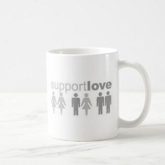 support-love classic white coffee mug
