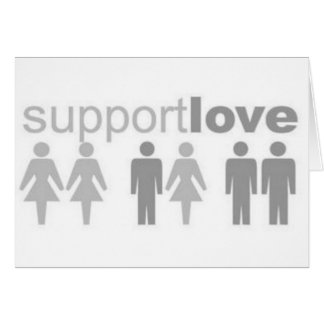 support-love greeting card