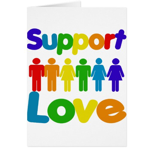 Support Love Greeting Cards