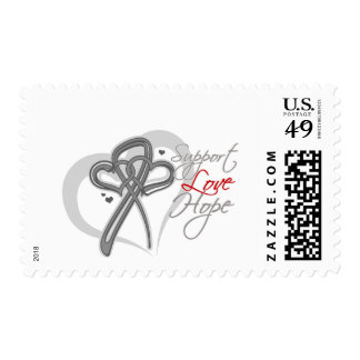 Support Love Hope - Brain Cancer Postage Stamps
