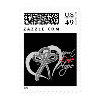 Support Love Hope - Brain Cancer Stamp