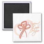 Support Love Hope - Endometrial Cancer Fridge Magnets
