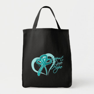 Support Love Hope - Gynecologic Cancers Canvas Bags