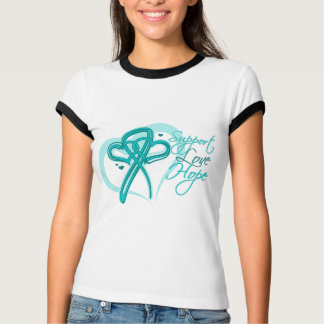 Support Love Hope - Gynecologic Cancers Tee Shirt