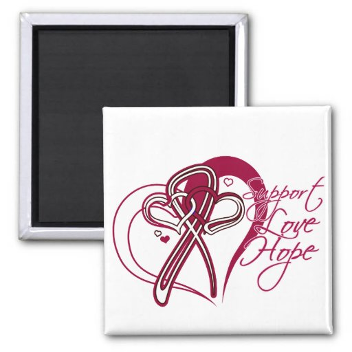 Support Love Hope - Head and Neck Cancer Magnet