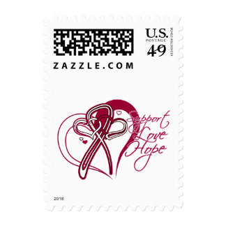 Support Love Hope - Head and Neck Cancer Stamp