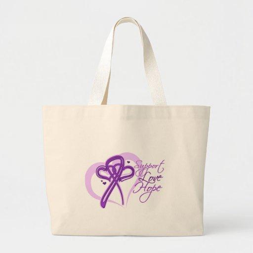 Support Love Hope - Pancreatic Cancer Jumbo Tote Bag