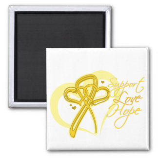 Support Love Hope - Sarcoma 2 Inch Square Magnet