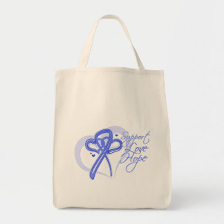 Support Love Hope - Stomach Cancer Tote Bags