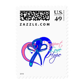 Support Love Hope - Thyroid Cancer Stamps