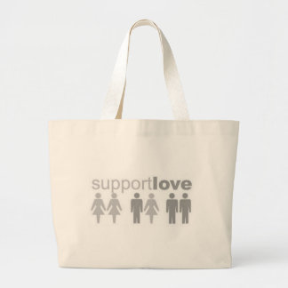 support-love large tote bag