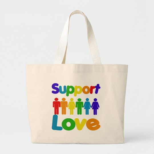 Support Love Large Tote Bag