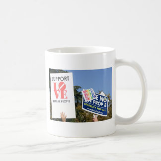 Support Love, Not Hate - No on Prop 8 Coffee Mug