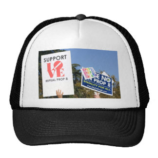 Support Love, Not Hate - No on Prop 8 Trucker Hat