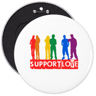 Support Love Pinback Button