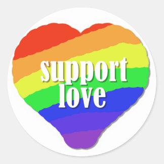 Support Love Classic Round Sticker