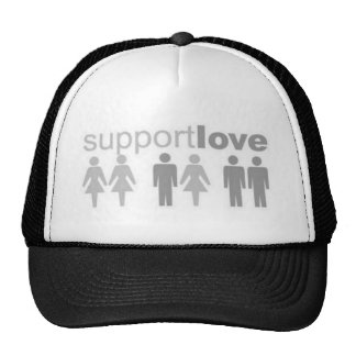 support-love trucker hat