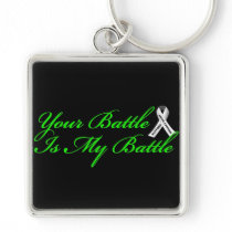Support Lung Cancer Key Chain Keychain Fob