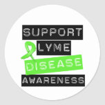 Support Lyme Disease Awareness Classic Round Sticker