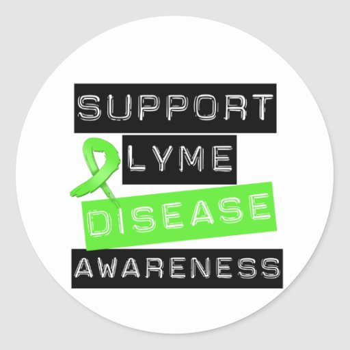 Support Lyme Disease Awareness Round Stickers