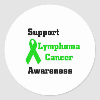 Support Lymphoma Cancer awareness Classic Round Sticker