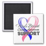 Support Male Breast Cancer Awareness Fridge Magnet