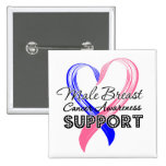 Support Male Breast Cancer Awareness Pin