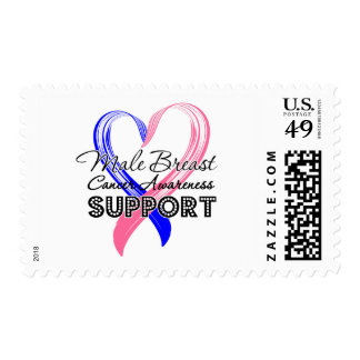 Support Male Breast Cancer Awareness Postage Stamp
