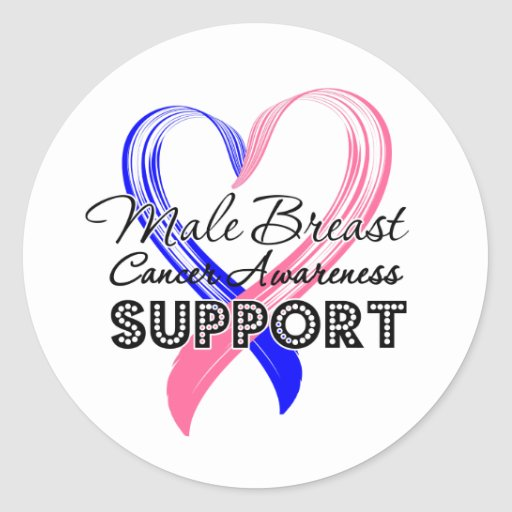 Support Male Breast Cancer Awareness Stickers