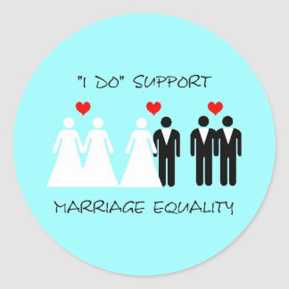 Support Marriage Equality Sticker - Round