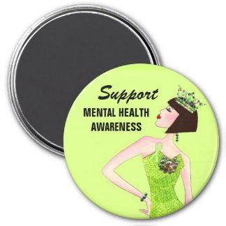 Support Mental Healh Awarness Diva Lime magnets