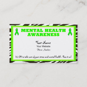 Health Awareness Business Cards Zazzle