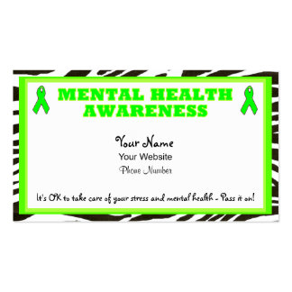 Support Mental Health Awareness Business Cards