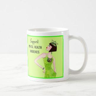 """Support Mental Health Awareness"" Diva Lime mug"