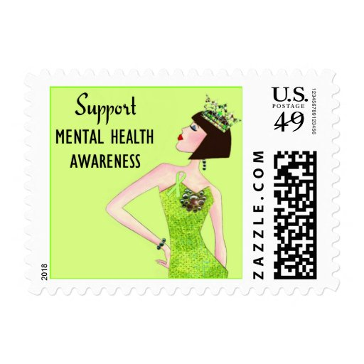 Support Mental Health Awareness DivaLime postage