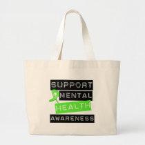 Support Mental Health Awareness Large Tote Bag