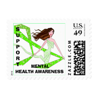 Support Mental Health Awareness postage
