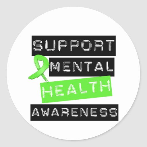 Support Mental Health Awareness Classic Round Sticker