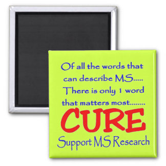 Support MS Research 2 Inch Square Magnet