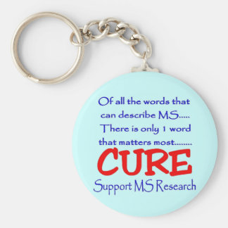 Support MS Research Basic Round Button Keychain