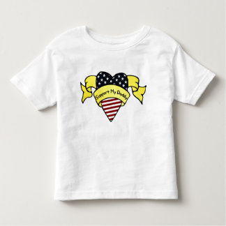 Support My Daddy Toddler T-shirt
