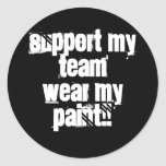 Support My Team Paintball Sticker