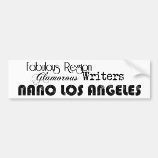 Support NaNo Los Angeles Bumper Sticker