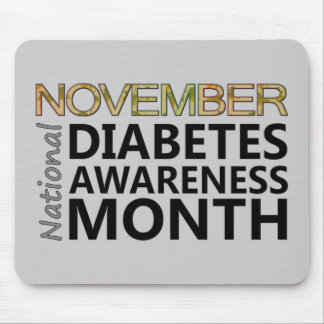 Support National Diabetes Awareness Month November Mouse Pad
