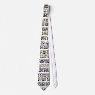 Support National Diabetes Awareness Month November Neck Tie