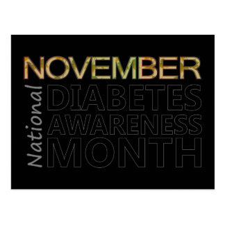 Support National Diabetes Awareness Month November Postcard