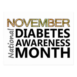 Support National Diabetes Awareness Month November Postcard