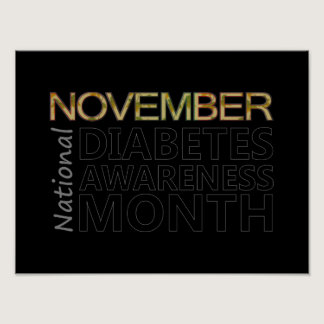 Support National Diabetes Awareness Month November Poster