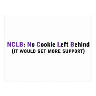 Support NCLB No cookies left behind Postcard