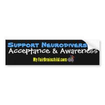 Support Neurodiversity Bumper Sticker